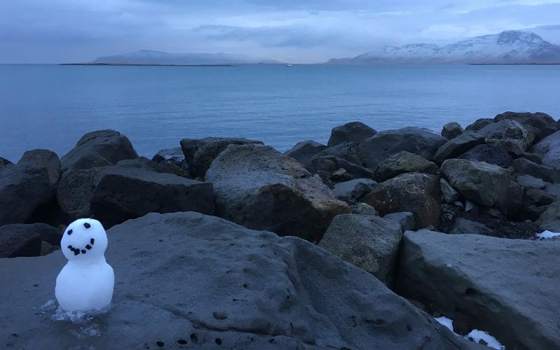 Snowman Reykjavik Bay