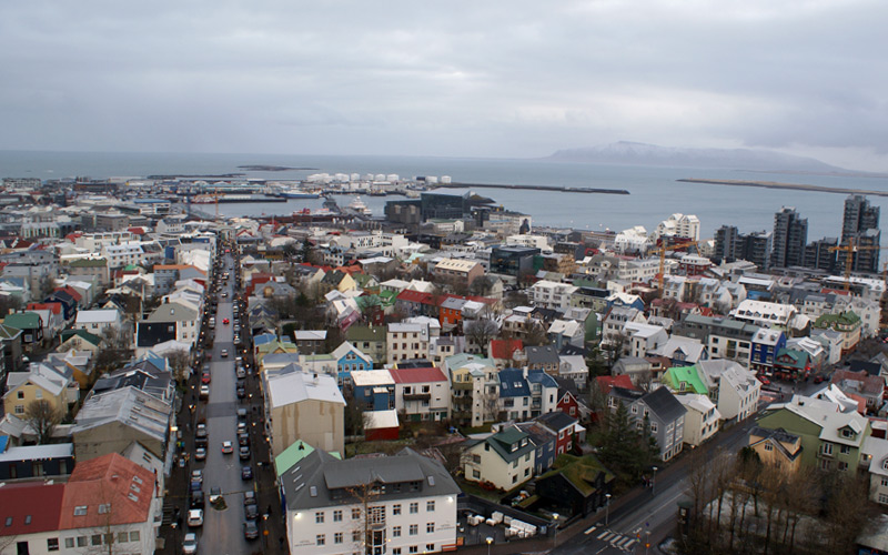 View from Reykjavik Church